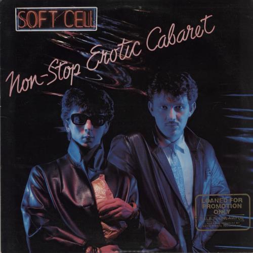 Soft Cell Non-Stop Erotic Cabaret - Promo Stamped vinyl LP album (LP record) US SOFLPNO751725