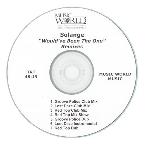 Solange Knowles Would've Been The One Remixes CD-R acetate US S/KCRWO507142