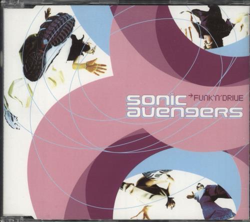 Sonic Avengers Funk 'N' Drive UK Promo CD album (CDLP)