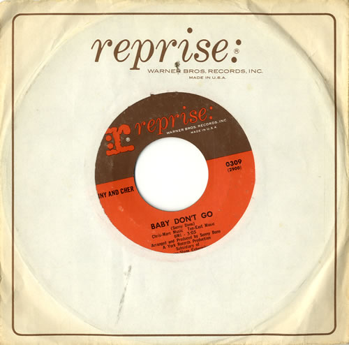 "Sonny & Cher Baby Don't Go 7"" vinyl single (7 inch record) US S+C07BA575981"
