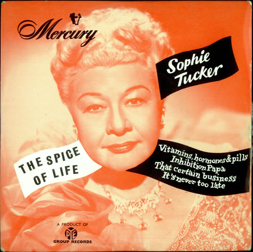 """Sophie Tucker The Spice Of Life EP 7"""" vinyl single (7 inch record) UK S0807TH511324"""
