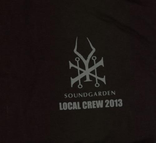 Soundgarden 2013 Tour - Local Crew - 2XL t-shirt UK SOUTSTO597645