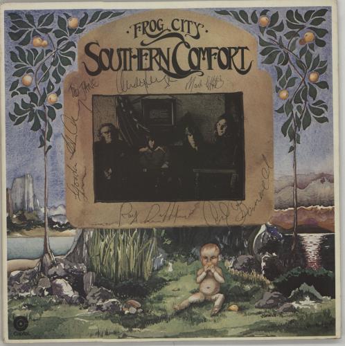 Southern Comfort Frog City - Fully Autographed vinyl LP album (LP record) US OUFLPFR663905