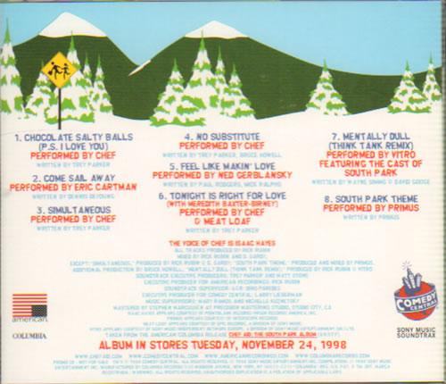 South Park Chef And Friends CD album (CDLP) US PRKCDCH128083