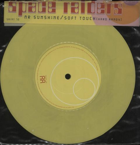 "Space Raiders Mr Sunshine - Yellow Vinyl 7"" vinyl single (7 inch record) UK SP107MR673666"