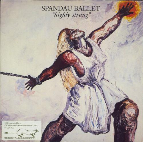 "Spandau Ballet Highly Strung - Stickered 7"" vinyl single (7 inch record) UK SPB07HI749437"