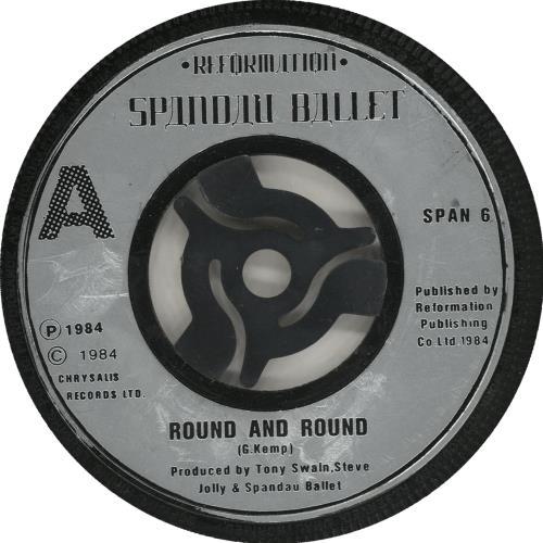 "Spandau Ballet Round And Round 7"" vinyl single (7 inch record) UK SPB07RO701396"