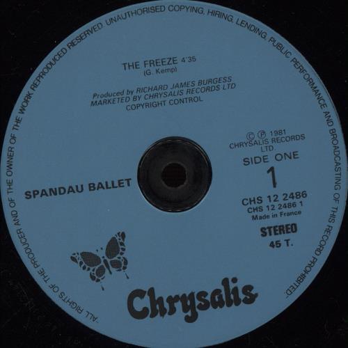 "Spandau Ballet The Freeze 12"" vinyl single (12 inch record / Maxi-single) French SPB12TH674764"