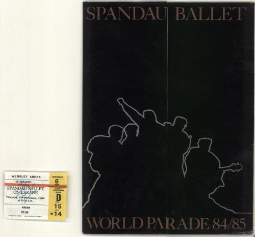 Spandau Ballet World Parade 84/85 + Folder + Ticket tour programme UK SPBTRWO703997