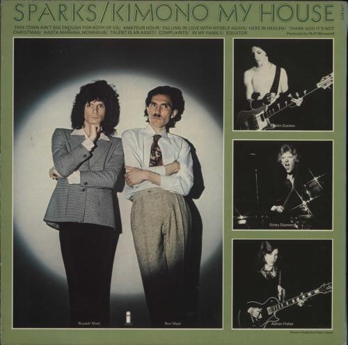 Sparks Kimono My House - 1st vinyl LP album (LP record) UK SPALPKI547417