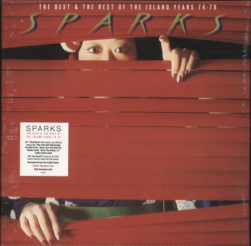 Sparks The Best & The Rest Of The Island Years 74-78 - Red Vinyl - Sealed 2-LP vinyl record set (Double Album) UK SPA2LTH699025