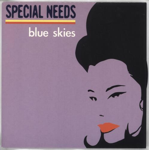 "Special Needs Blue Skies - Lilac Sleeve 7"" vinyl single (7 inch record) UK NEE07BL717220"