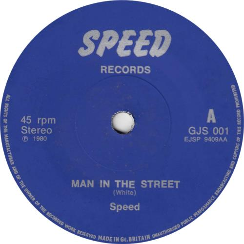 "Speed Down The Road/Man On The Street 7"" vinyl single (7 inch record) UK PEE07DO143006"