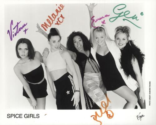 Spice Girls Fully Autographed Photograph photograph UK PICPHFU739284
