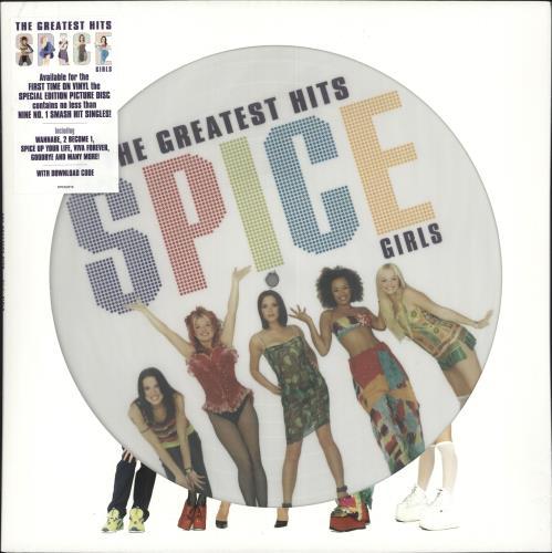 Spice Girls Greatest Hits - Sealed picture disc LP (vinyl picture disc album) UK PICPDGR724830