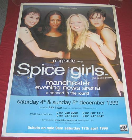 Spice Girls Manchester Gig Poster 1999 poster UK PICPOMA359839