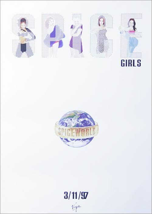Spice Girls Spice world - Album poster UK PICPOSP97482