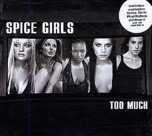 """Spice Girls Too Much + Postcard CD single (CD5 / 5"""") UK PICC5TO101452"""