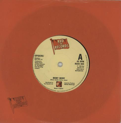 "Spiders (80S) Mony Mony 7"" vinyl single (7 inch record) UK 2YP07MO760622"