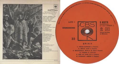 Spirit Spirit vinyl LP album (LP record) Italian SRTLPSP416695