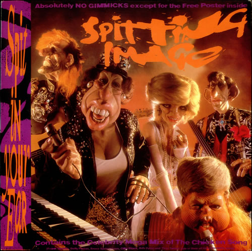 Spitting Image Spit In Your Ear + Poster vinyl LP album (LP record) UK IMGLPSP538825