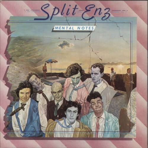Split Enz Mental Notes - 1st vinyl LP album (LP record) UK ENZLPME98741