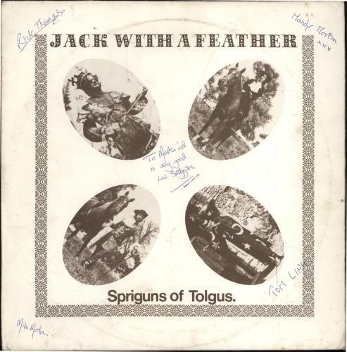Spriguns Jack With A Feather - Autographed vinyl LP album (LP record) UK SOTLPJA768041