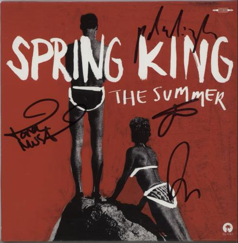 "Spring King The Summer - Autographed 7"" vinyl single (7 inch record) UK X1707TH658674"