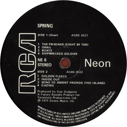 Spring Spring - G/VG vinyl LP album (LP record) UK SNGLPSP718137