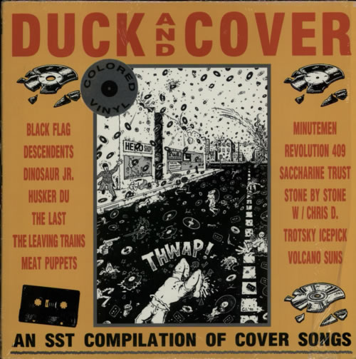 Sst Records Duck And Cover Red Vinyl Us Vinyl Lp Album