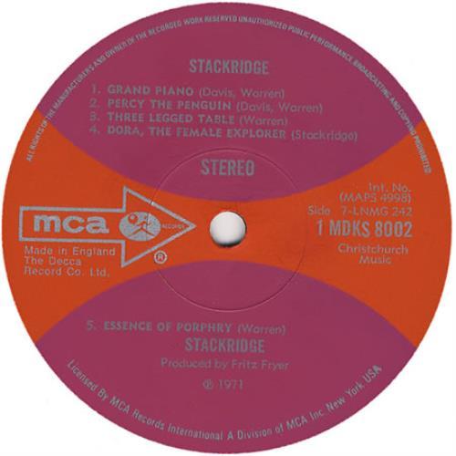 Stackridge Stackridge - 1st vinyl LP album (LP record) UK KRDLPST341862