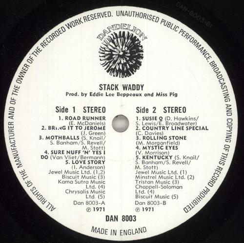 Stack Waddy Stack Waddy vinyl LP album (LP record) UK SWYLPST743206
