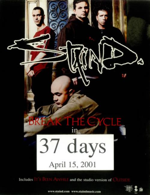staind break the cycle us promo display 454177