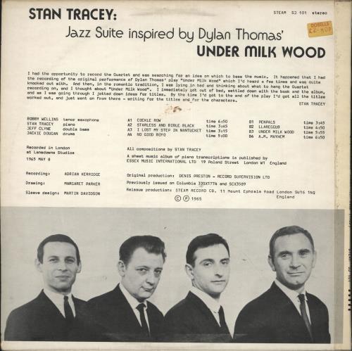 Stan Tracey Under Milk Wood - VG+/EX- vinyl LP album (LP record) UK S0ZLPUN724716
