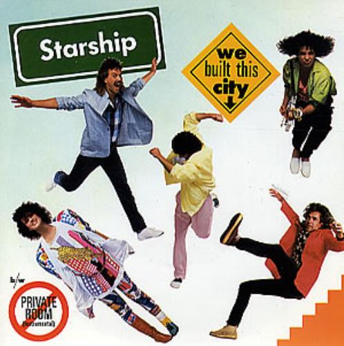 "Starship We Built This City - P/S 7"" vinyl single (7 inch record) UK SHI07WE273236"