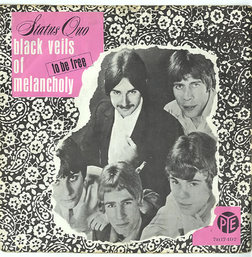 "Status Quo Black Veils Of Melancholy 7"" vinyl single (7 inch record) Dutch QUO07BL623568"
