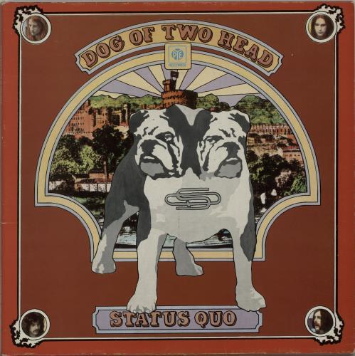 Status Quo Dog Of Two Head - Autographed vinyl LP album (LP record) UK QUOLPDO654526