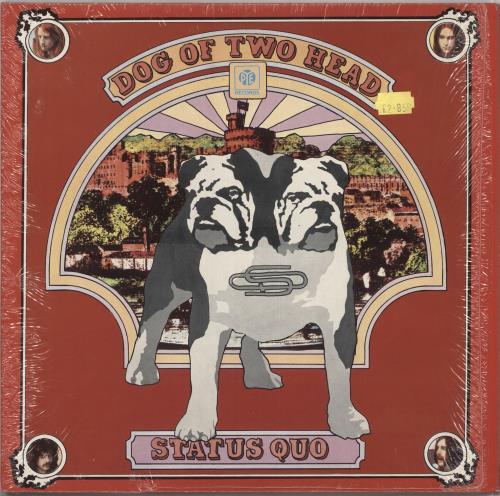 Status Quo Dog Of Two Head - Purple Vinyl vinyl LP album (LP record) UK QUOLPDO725448