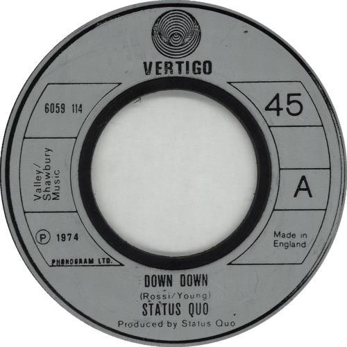 "Status Quo Down Down - Jukebox 7"" vinyl single (7 inch record) UK QUO07DO662297"