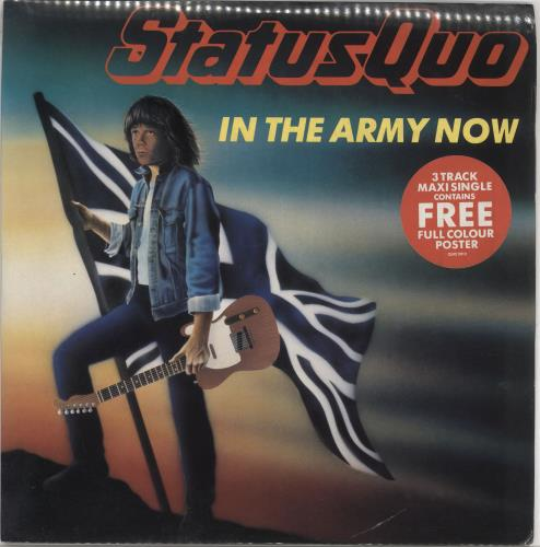 "Status Quo In The Army Now + poster - Shrink 12"" vinyl single (12 inch record / Maxi-single) UK QUO12IN727455"