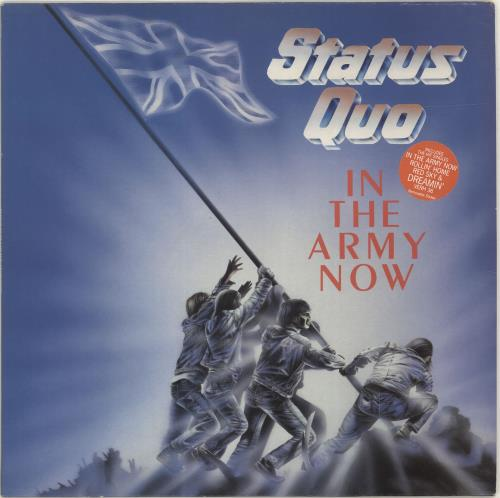 Status Quo In The Army Now - Stickered vinyl LP album (LP record) UK QUOLPIN693225