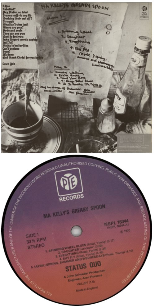 Status Quo Ma Kelly's Greasy Spoon - 3rd vinyl LP album (LP record) UK QUOLPMA599015