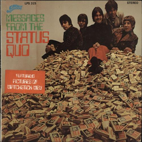 Status Quo Messages From The Status Quo - Drilled vinyl LP album (LP record) US QUOLPME135370