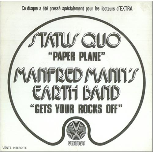 """Status Quo Paper Plane 7"""" vinyl single (7 inch record) French QUO07PA422460"""