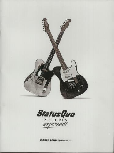 Status Quo Pictures Exposed! - World Tour 2009-2010 + Carrier Bag & Ticket Stub tour programme UK QUOTRPI655061