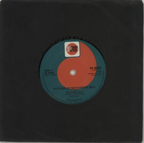 "Status Quo Pictures Of Matchstick Men 7"" vinyl single (7 inch record) UK QUO07PI688333"