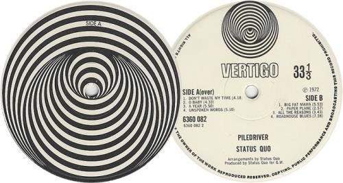 Status Quo Piledriver - 1st - VG vinyl LP album (LP record) UK QUOLPPI562560