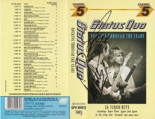 Status Quo Rocking Through The Years - Autographed memorabilia UK QUOMMRO717018