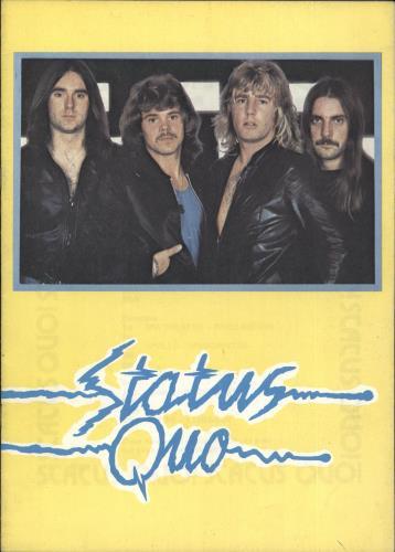 Status Quo Status Quo - Unofficial Programme tour programme UK QUOTRST717886