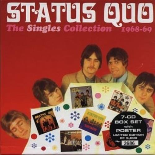 "Status Quo The Singles Collection 1968-1969 - Sealed box CD single (CD5 / 5"") UK QUOC5TH360722"